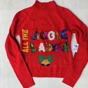 All The Jingle Ladies Ugly Christmas Turtleneck